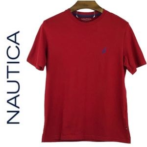 Nautica Red T Shirt NWOT Size XL Embroided Logo